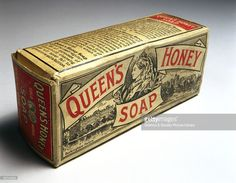 Packet of soap with pictures of Queen Victoria, Buckingham Palace and Windsor Castle. The manufacturers recommended it for household and laundry use.