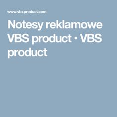 Notesy reklamowe VBS product • VBS product