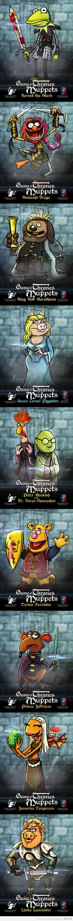 Game of Thrones Muppets!  Animal is probably the best one here...