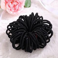Intelligent 10pc Black Girls Headwear Elastic Hair Bands Ponytail Holder Hair Ties Ring Hairband Elastic Scrunchy Hair Accessories For Women Traveling Girl's Hair Accessories Apparel Accessories