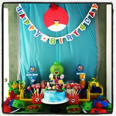 Angry Birds Birthday Party. Bird is the word haha!