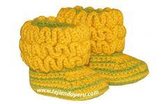 Tutorial: botitas con ondas para bebes (wiggle crochet baby booties free tutorial)!
