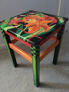 Furniture example to consider today. Look at the creativ decorating info 9661174688 now. Painted Table Tops, Hand Painted Chairs, Whimsical Painted Furniture, Hand Painted Furniture, Funky Furniture, Recycled Furniture, Art Furniture, Rustic Furniture, Furniture Makeover