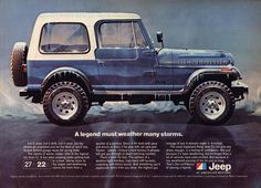 Jeep Wrangler Renegade.. I love the ruggedness of an old jeep, and it can damn sure still get you through the mudd which is all that matters.