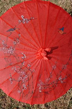 "$5.89  Parasol- great for key focal point  32"" diameter"