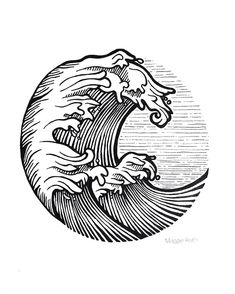 Picture result for line art of smooth sea old school tattoo - # old . Picture result for line Pixel Tattoo, Trendy Tattoos, New Tattoos, Tatoos, Water Tattoos, Surf Tattoo, Tattoo Wave, Wave Tattoo Design, Wave Design