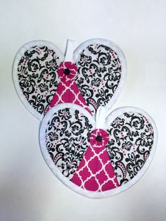 A personal favorite from my Etsy shop https://www.etsy.com/listing/198082867/heart-hot-pad-pair-damask-and-quatrefoil