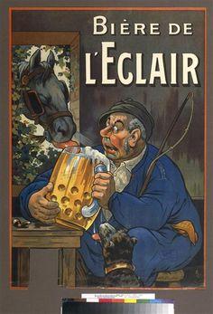 """""""Bière de l'éclair"""" d'Eugène Ogé (1861-1936). Paris, Bibliothèque nationale de France (BnF) - Photo (C) BnF, Dist. RMN-Grand Palais / image BnF"""