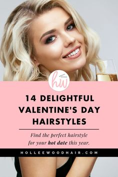 Spice up your hair this V-day!  Are you looking some sweet Valentines Day hair ideas? These super easy hairstyles are cute, trendy and super romantic! So what are you waiting for? These super fun Valentines Day hairstyles are the perfect hair inspo for you to look your best this year! (tutorials included) #ValentinesDay #Hair #Hairstyles #HairInspo