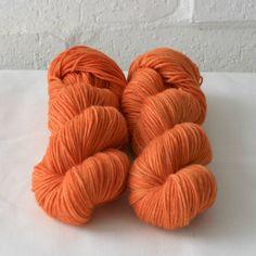 Hand Dyed Yarn - 8ply DK Superwash Merino 'Orange'