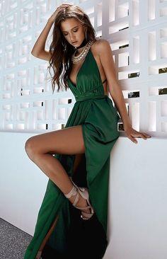 BB Exclusive Pandora Formal Dress Emerald Green