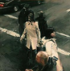 Intersection II 2008 oil on panel 15 7/16 x 15 7/16 inches