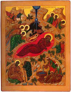 Jouluikoni by Lue kuvaa by Uskonnonopetus. Scene, Painting, Image, Art, Art Background, Painting Art, Kunst, Paintings, Gcse Art