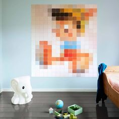 Buy IXXI Disney Pixel Pinocchio Wall Art Now at Dotmaison. Quality designer homewares & Free UK delivery over Modern Wall Decor, Home Decor Wall Art, Design Shop, Pinocchio, Regal Design, Disney Rooms, Modern Disney, Inspiration For Kids, Wall Spaces