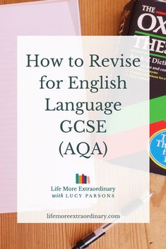 How to Revise for English Language GCSE (AQA) Mr Salles shows us the tricks you need to know to get a grade 8 or 9 in GCSE English language. Here's how to revise English Language GCSE via Parsons Revision Motivation, Revision Tips, Revision Notes, Revision Techniques, Study Techniques, Student Motivation, Study English Language, English Exam, English Study