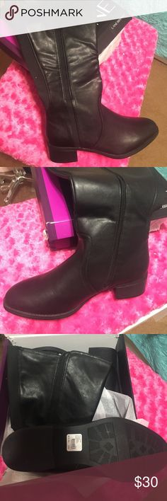 NWT still in the box Lane Bryant knee high boots NWT still in the box black Lane Bryant knee high boots. Extend d calf size 11w Lane Bryant Shoes