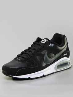 nike air max command leather sneakers white/wolf grey