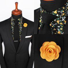 Verona Black Floral Set - Grand Frank