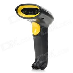 Handheld USB 2.0 Visible Laser Barcode Scanner - Black + Yellow