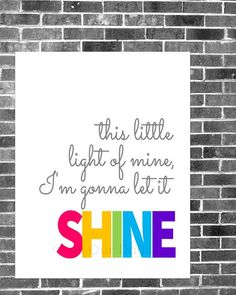 This Little Light of Mine // Pink // INSTANT DOWNLOAD // Nursery & Kid's Wall Art