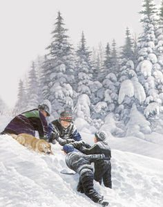 Beautiful Newfoundland artwork captured by artist LLoyd Pretty Newfoundland Canada, Newfoundland And Labrador, Winter Magic, Winter Art, Winter Pictures, Art Pictures, Winter Wonderland Christmas, White Christmas, Local Painters