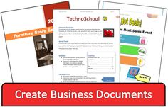 TECHNOADVERTISE: Teach advanced word processing skills! Use TechnoAdvertise to teach your students how to create a cover letter, resume, poster, catalog, and more!