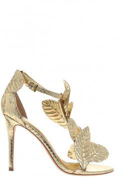 Gilda Metallic Snakeskin Heel   | Calypso St. Barth