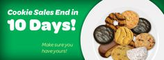 10 Days left. Find cookies at www.ILoveCookies.org