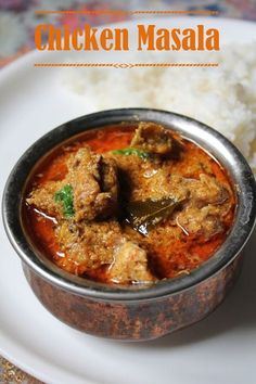 Chicken Masala Recipe / Chicken Masala Curry Recipe. Many step by step photos to make it easier.
