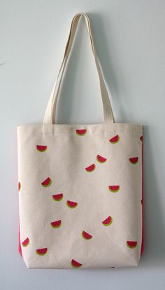 Summer Watermelons tote bag от LesEpinglesOubliees на Etsy