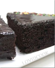 Moist does not begin to describe this cake - so good it is silly! moist chocolate cake