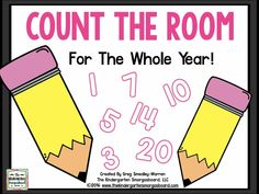 Count the room is a great math game or activity to get students up and moving while working on math skills! Montessori Math, Preschool Math, Fun Math, Teaching Math, Preschool Ideas, Teaching Ideas, Kindergarten Smorgasboard, Kindergarten Freebies, Kindergarten Class