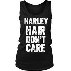 Harley Hair, Don't Care! Harley Davidson Chopper, Harley Davidson Street Glide, Harley Davidson Jacket, Harley Davidson Kleidung, Classic Harley Davidson, Harley Davidson Motorcycles, Harley Davidson Tattoos, Hd Motorcycles, Hd 883 Iron