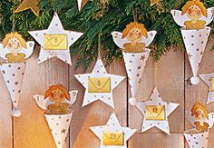 "FREE printable Angel Advent Calendar // Bastelanleitung: Adventskalender ""Freche Engel"" basteln"