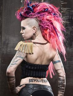 Dread Artist Unknown Mohawk Dreads, Wool Dreads, Synthetic Dreadlocks, Creative Hairstyles, Cool Hairstyles, Dreadlock Hairstyles, Mohawk Styles, Hair Styles, Rapunzel