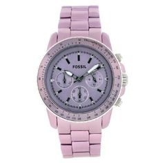 quenalbertini: Fossil Two Tone Purple Watch Cute Watches, Watches For Men, Ladies Watches, Trendy Watches, Dream Watches, Elegant Watches, Fossil Watches, Nixon Watches, Rolex Watches