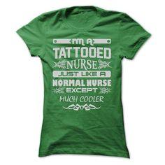 I Love TATTOOED NURSE - AMAZING T SHIRTS Shirts & Tees