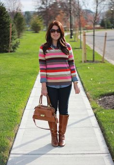 A Gap sweater and a pair of jeans as featured on the blog Mix and Match Fashion.