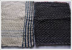 zokins:  vintage japanese cotton sashiko dust cloths