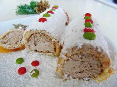 bûche de Noël enneigée pour la battlefood 38 Krispie Treats, Tables, Sugar, Cookies, Desserts, Noel, Recipes, Kitchens, Mesas