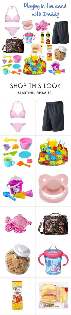 """Playing in the sand with Daddy"" by bri-bri26 ❤ liked on Polyvore featuring Champion, Hello Kitty, Ju Ju Be, OXO and Gerber"