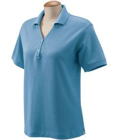 Ladies Pima Piqué Short-Sleeve Y-Collar Polo