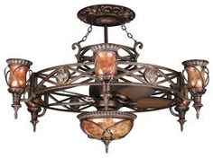Gothic ceiling fan enclosure wrought iron gothic in style fan image result for gothic style ceiling fan mozeypictures Choice Image