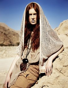 ilva hetmann photographed by sam bisso  for the editorial desert goddess in elle germany june 2012.