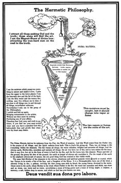 mylittleillumination:  The Hermetic Philosophy, from Secret Symbols of the Rosicrucians of the 16th & 17th Centuries.