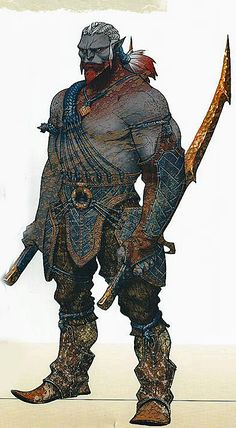 Encerrados - Resembling large humanoids with thick and grey skin, these monstrous ogres are found in isolated mountain ranges across Chile and South America, and are thought to be closely related to the horrific invunche. They will kidnap children and vulnerable travelers, and hand them over to evil magic users who use them for hideous experiments.