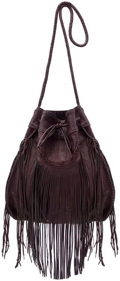☯☮ॐ American Hippie Bohemian Style ~ Leather Fringe Bag!