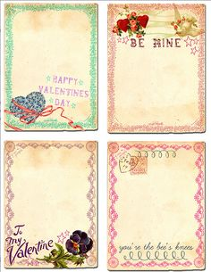 Valentine labels and cards