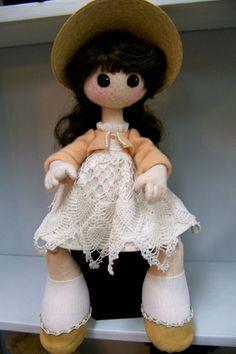 Jointed wool felt doll by SmithartsArtDolls on Etsy