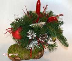 St.Nicolas Boot of plenty Christmas Gift Decoration Traditional New Year Charm for home Christmas Candle holder Handmade! by ArtChristmas on Etsy